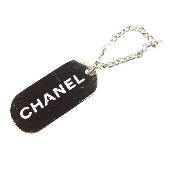 【中古】 シャネル CHANEL キーホルダー ドッグタグ メンズ可 シルバー E852 .