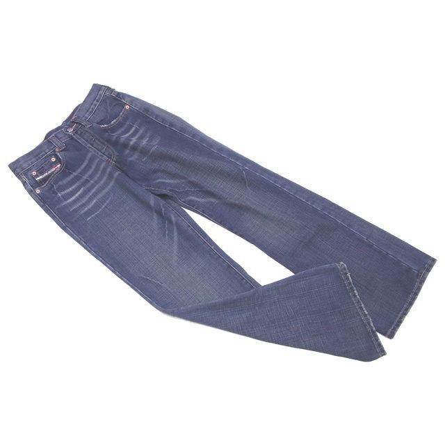【中古】 ディーゼル DIESEL ジーンズ ブーツカット メンズ ♯29サイズ ウォッシュブルー E965
