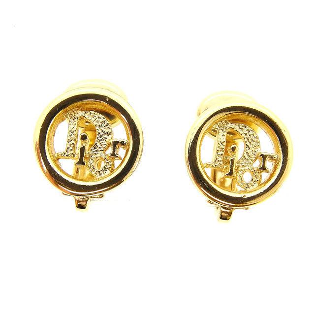 【中古】 クリスチャンディオール Christian Dior イヤリング アクセサリー レディース ゴールド ゴールド素材 中古 F1083