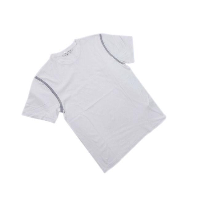 【中古】 マークジェイコブス MARC JACOBS Tシャツ カットソー メンズ Sサイズ 袖ライン入り ホワイト×グレー 美品 人気 F1300 .