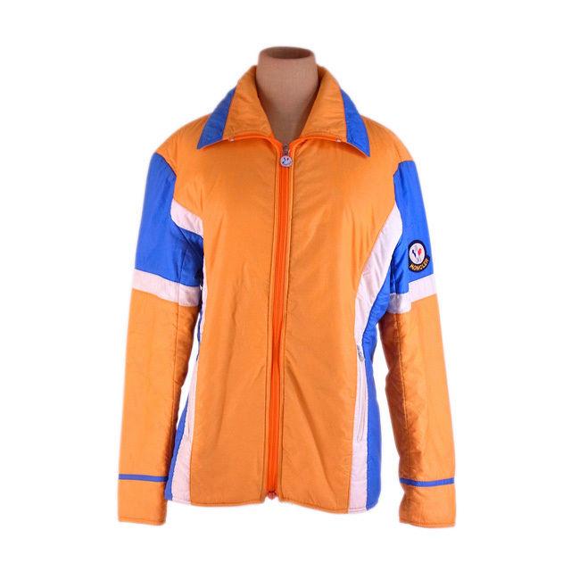 【中古】 モンクレール Moncler アウター キルティング オレンジ×ブルー系 スキーウェア ロゴ レディース F1311s