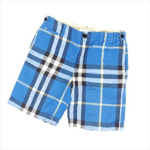 8a68f0560 Burberry children BURBERRY CHILDREN underwear half length Boys ♯ kids  10Y140cm size check blue system LINEN ...