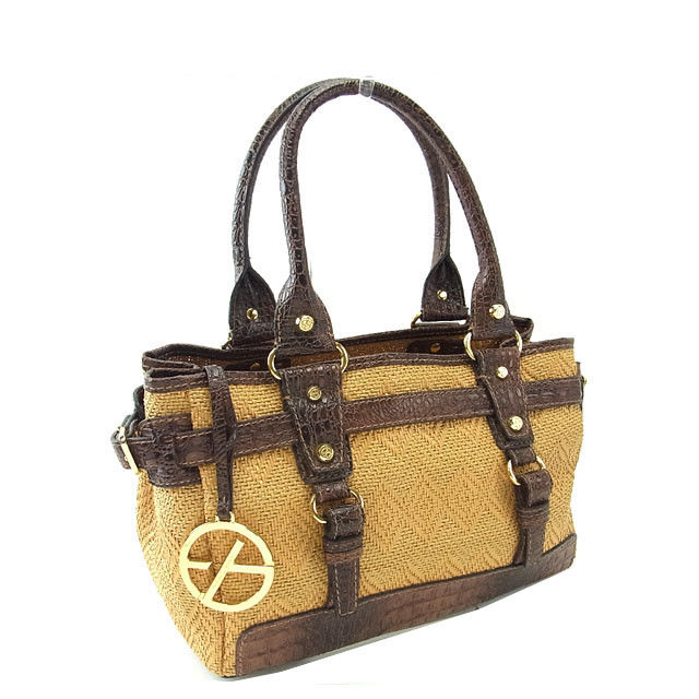 Francesco biasia FRANCESCO BIASIA bag cago bag ladies handbag with cart x  natural crocodile x Brown straw × leather with Mint popular F885 ☆ 717b1398291ef