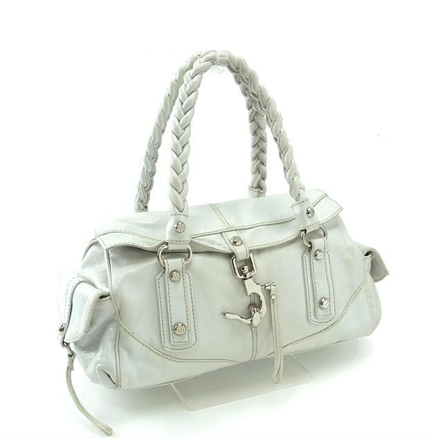 Francesco biasia FRANCESCO BIASIA handbags shoulder bag women s blade  shoulder White x silver leather with Mint popular F921 f805521700e87