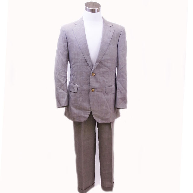 【中古】 バーバリー BURBERRY スーツ イニシャル入り メンズ チェック グレー - (あす楽対応)(激安・即納) G016