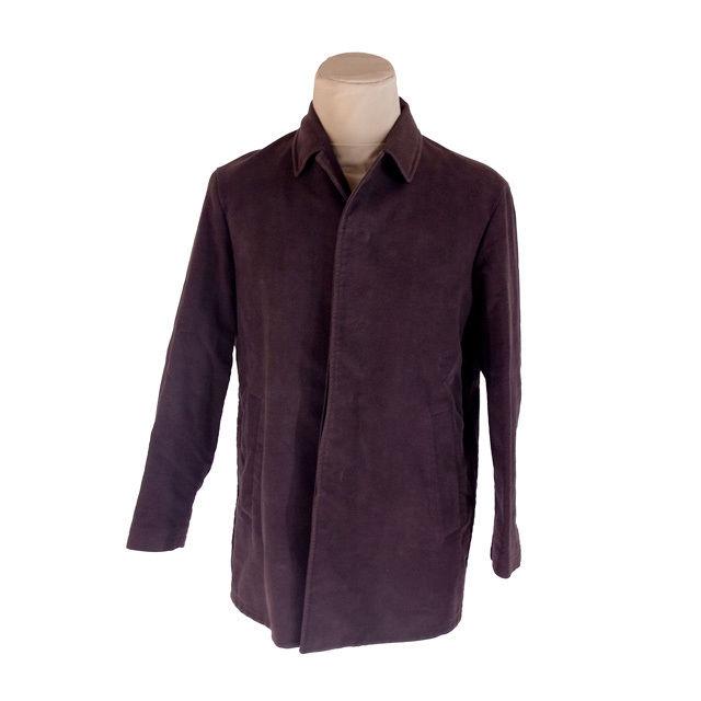 buy popular 81b00 a76d5 Jil Sander JIL SANDER coat single half length men ♯ R46 size convertible  collar dark brown deep-discount popular G1210.