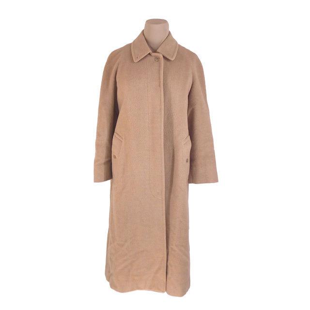 【中古】 バーバリー BURBERRY コート シングル ロング丈 レディース ♯Lサイズ ステンカラー ベージュ 激安 人気 G1215