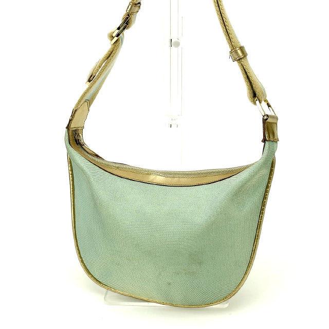 29db31bec7fc62 Gucci GUCCI shoulder bag one shoulder Lady's gold X blue canvas X leather  G586 ...
