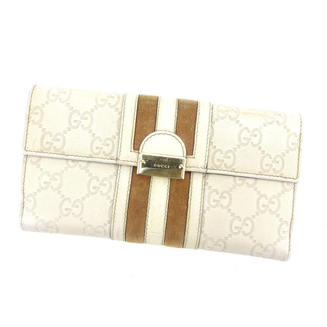 58297bd29237 Gucci by GUCCI long wallet W hook men allowed guccissima beige / off-white  leather ...