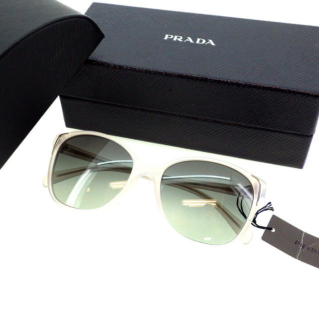 b3ea0330a046d Prada PRADA sunglasses glasses unisex square frame with Wellington-SPR01O-A  DAR-3M1 clear black x clear white x silver plastic   silver fittings  (handles) ...