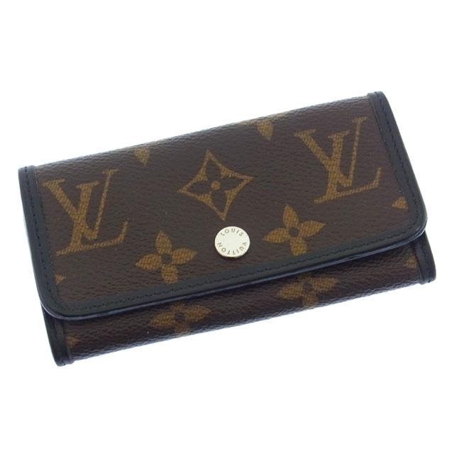 【中古】 ルイヴィトン Louis Vuitton キーケース 6連キーケース メンズ ミュルティクレ6 モノグラムマカサー ブラウン×ブラック モノグラムキャンバス×レザー I148 .