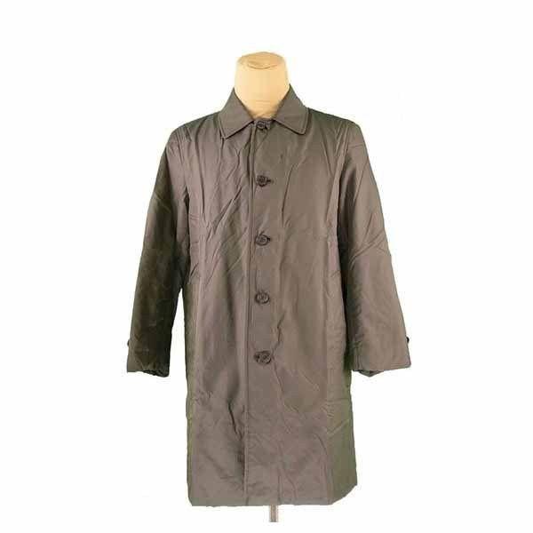 【中古】 バーバリー BURBERRY コート キルティング ロング メンズ ♯Mサイズ シングル ダークカーキ系 人気 良品 I467 .