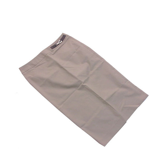 【中古】 グッチ GUCCI スカート /サイズ42/タイト/ロング丈 /レディース /ベルトモチーフ付き ベージュ C/100%(裏地)RY/100% (あす楽対応)(中古) K158