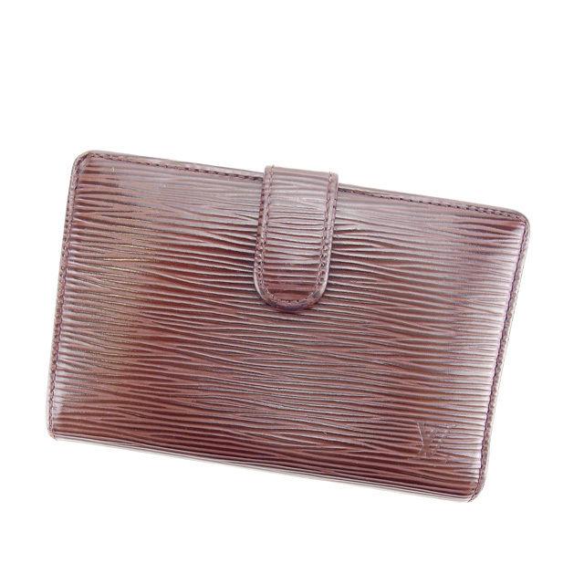 【中古】 ルイヴィトン がま口財布 二つ折り財布 Louis Vuitton モカ(ブラウン系) L1064s