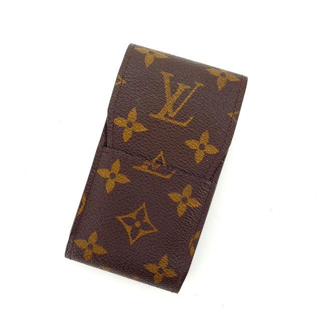 【中古】 ルイヴィトン シガレットケース タバコケース Louis Vuitton ブラウン L1068s