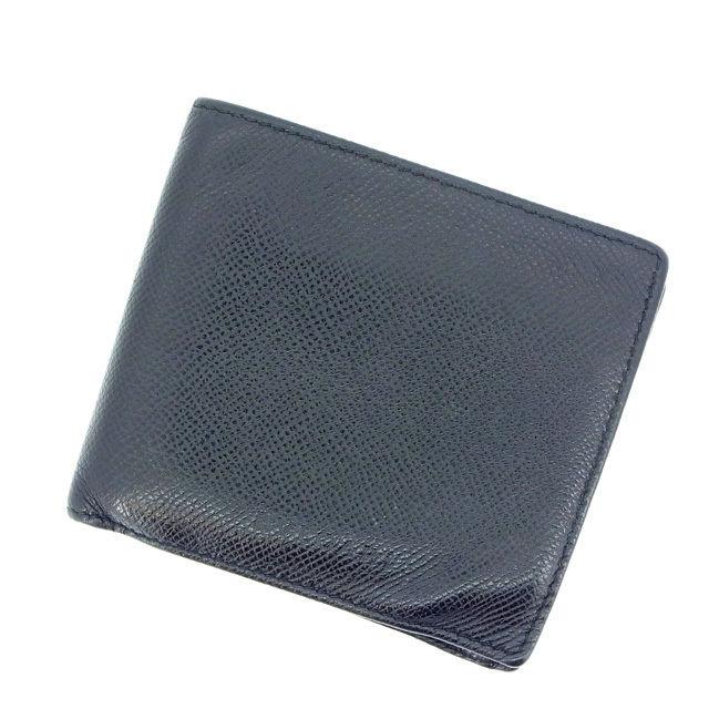【中古】 ブルガリ 二つ折り財布 ブラック BVLGARI 二つ折りサイフ 財布 サイフ 収納ブランド ブランド財布 2つ折り財布 ユニセックス 小物 人気 贈り物 迅速発送 在庫処分 男性 女性 良品 春 1点物 L153 .