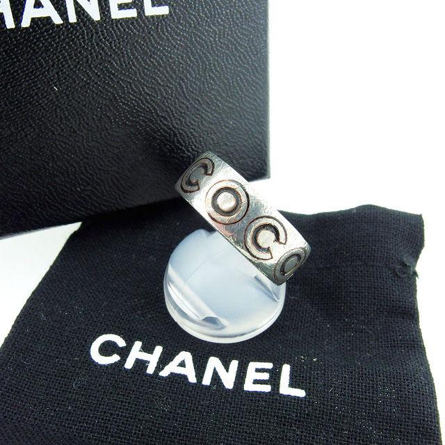 【中古】 シャネル CHANEL 指輪 リング レディース シルバー×ブラック 激安 人気 L297
