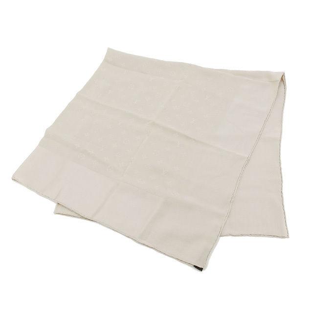 【中古】 ルイヴィトン Louis Vuitton スカーフ レディース モノグラム ベージュ 100%シルク (あす楽対応)美品 L356 .
