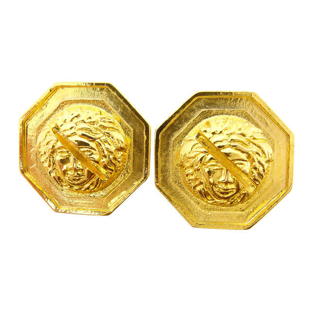 17b8b319911f Gianni Versace GIANNI VERSACE earrings accessories Lady s eight angles form Medusa  gold gold plating (correspondence ...