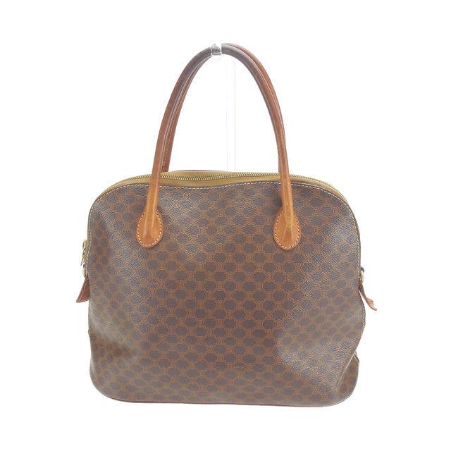 9817dd021fc0 X gold PVC X leather (correspondence) popularity sale L526 of Celine CELINE  handbag men s possible macadam Brown line