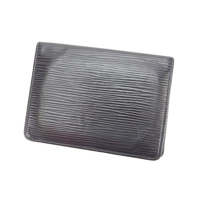 【中古】 ルイヴィトン Louis Vuitton 定期入れ パスケース メンズ可 ポルト2カルトヴェルティカル エピ M63202 ノワール(ブラック) エピレザー (あす楽対応)人気 L537 .