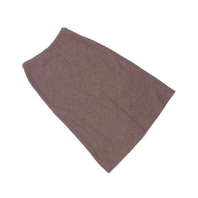 【中古】 ロエベ LOEWE スカート ロング レディース ♯40サイズ フレアー ブラウン系 W/97%ET/3% (あす楽対応)美品 L588