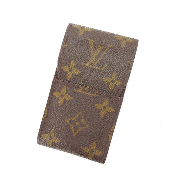 【中古】 ルイヴィトン シガレットケース タバコケース Louis Vuitton ブラウン L759s .