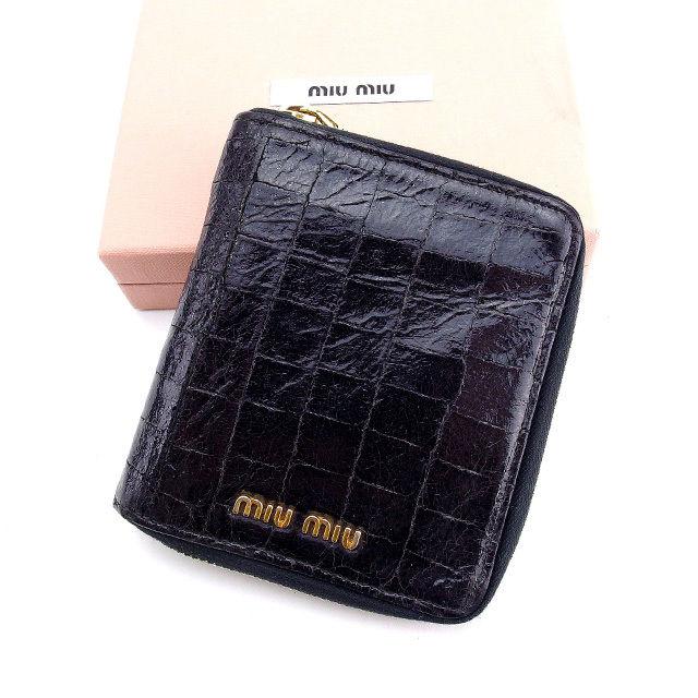 new concept 19053 e40aa ミュウミュウ Miu Miu 二つ折り財布 財布 コーチ フェンディ ...