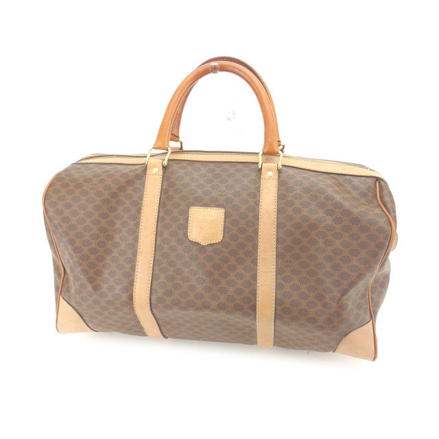 Celine CELINE Boston bag travel bag man and woman combined use macadam  brown X beige X gold PVC X leather (correspondence) popularity sale L820. f7ed3be2f8
