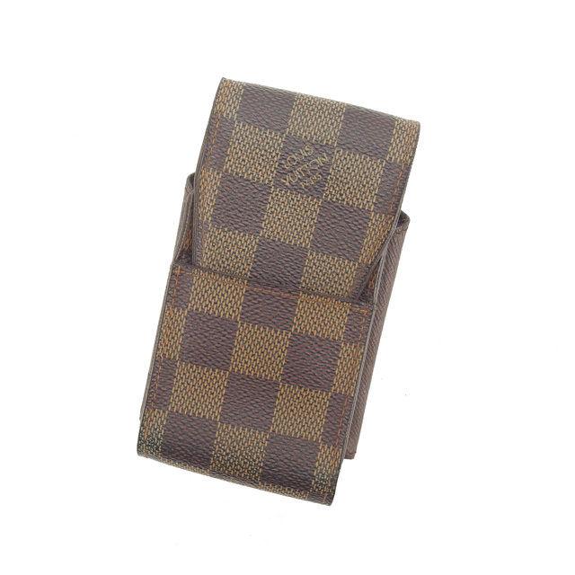 【中古】 ルイ ヴィトン Louis Vuitton シガレットケース タバコケース エベヌブラウン系 エテュイシガレット ダミエ レディース L827s