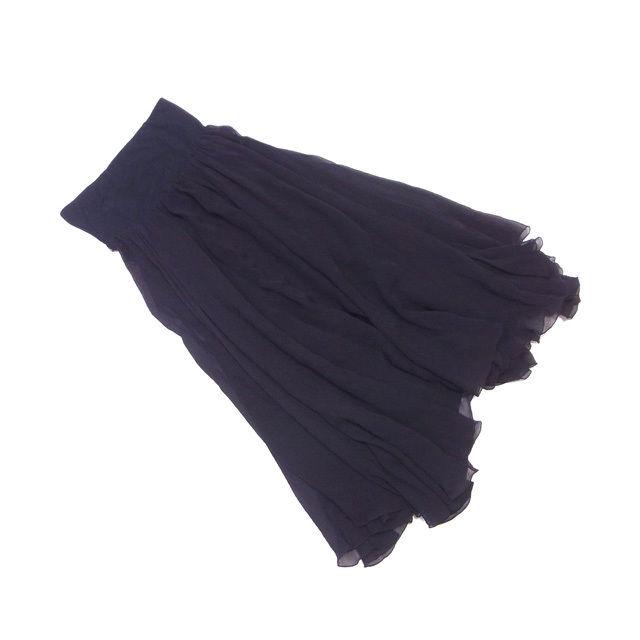 【中古】 マークジェイコブス MARC JACOBS スカート フリル ロング レディース ♯6サイズ シフォン ブラック 絹/100%(その他)綿/95%ポリウレタン/5% (あす楽対応)美品 即納 L874 .