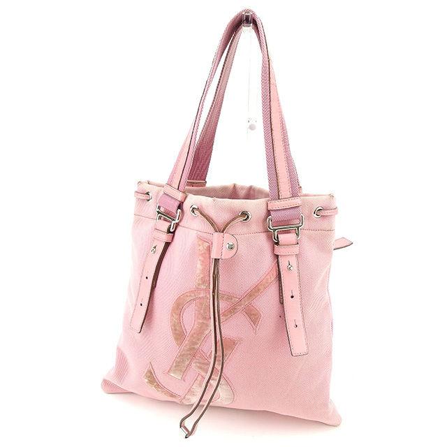 47292c41f967 Saint-Laurent SAINT LAURENT tote bag shoulder bag Lady s Kahara Thoth pink  X silver canvas X leather popularity sale L1326.