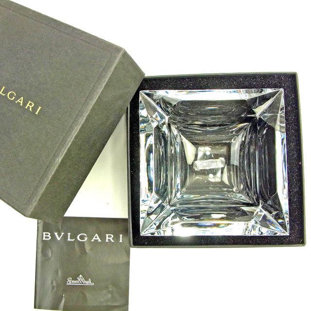 【中古】 ブルガリ BVLGARI 灰皿 小物入れ レディース メンズ 可 ローゼンタール クリア ガラス製品 人気 良品 L1527 .