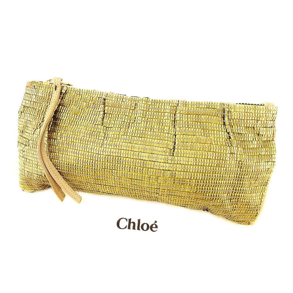 【中古】 クロエ クラッチバッグ ポーチ パーティーバッグ バッグ Chloe ゴールド L1699s