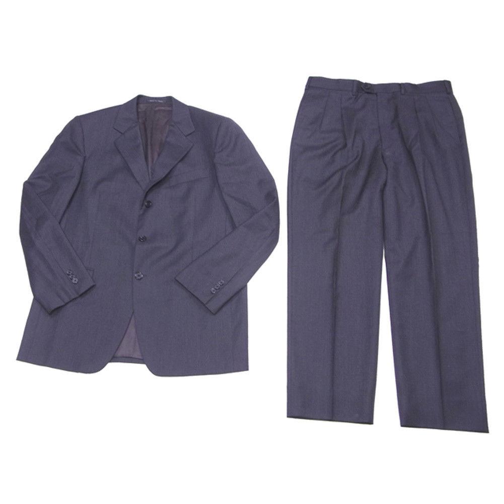 【中古】 フェンディ FENDI スーツ スラックス メンズ テーラージャケット 無地 ダークグレー ウールWOOL/100%(裏地)レーヨンRAYON/100% 人気 L1817