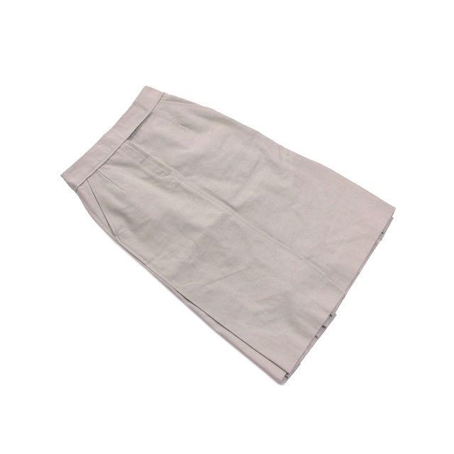 【中古】 ルイヴィトン Louis Vuitton スカート ロング丈 レディース ♯38サイズ スリット入り ベージュ 良品 人気 L2082 .