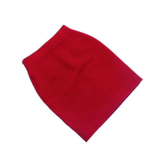 【中古】 クリスチャン ディオール Christian Dior スカート ヒザ丈 レディース ♯Mサイズ レッド L2087