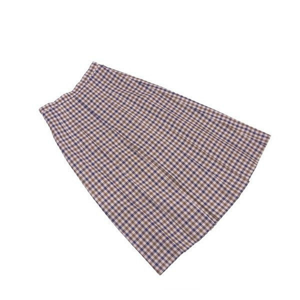 31910a643 Quality goods L2124 of アクアスキュータム Aquascutum skirt flare long lady's box  pleat check beige ...