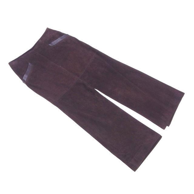 【中古】 ヴァレンティノ VALENTINO スカート ロングスリット レディース ♯6サイズ スエード ブラウン 良品 L2129 .