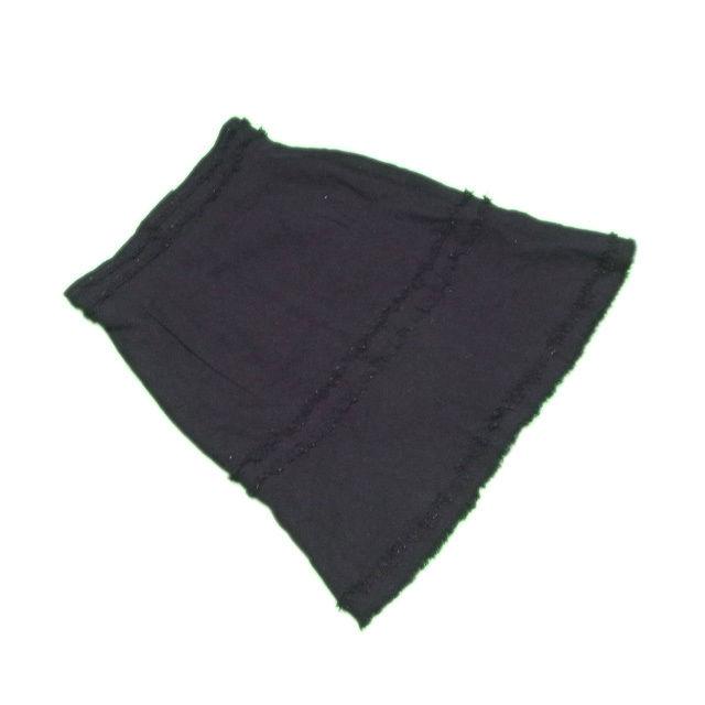 【中古】 シャネル CHANEL スカート レディース ♯38サイズ ツィード ブラック 人気 L2137