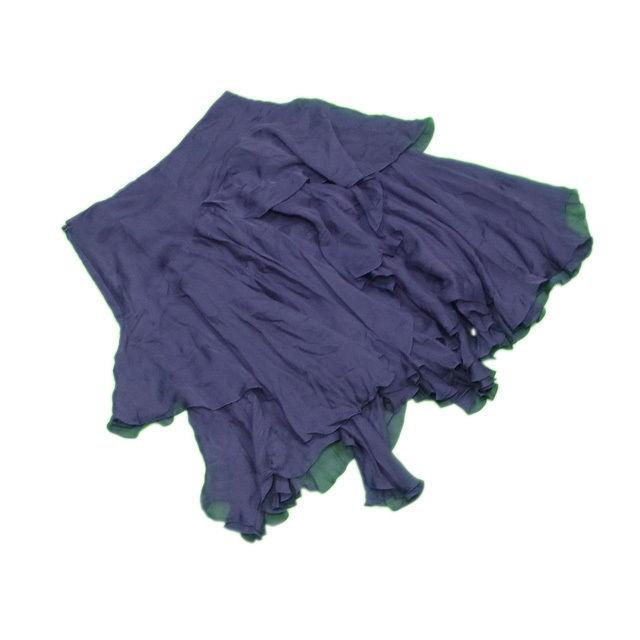 【中古】 アンテプリマ ANTEPRIMA スカート イレギュラーヘム レディース ♯38サイズ ティアードフリル ネイビー シルク/100%(裏地)レーヨン/100% 美品 L2171