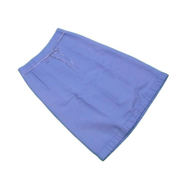 【値引きクーポン】 【中古】 マークジェイコブス MARC JACOBS スカート レディース ♯2サイズ ブルー 綿100%(裏地)絹 L2182 .