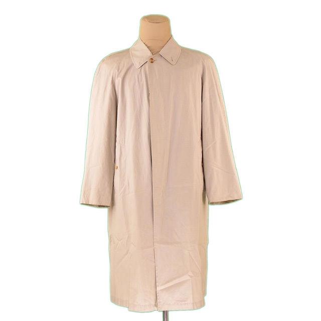 【中古】 バーバリー BURBERRY コート ロング メンズ シングル ステンカラー ベージュ 綿/100%(背裏)綿(袖裏)ポリエステル 人気 L2211 .