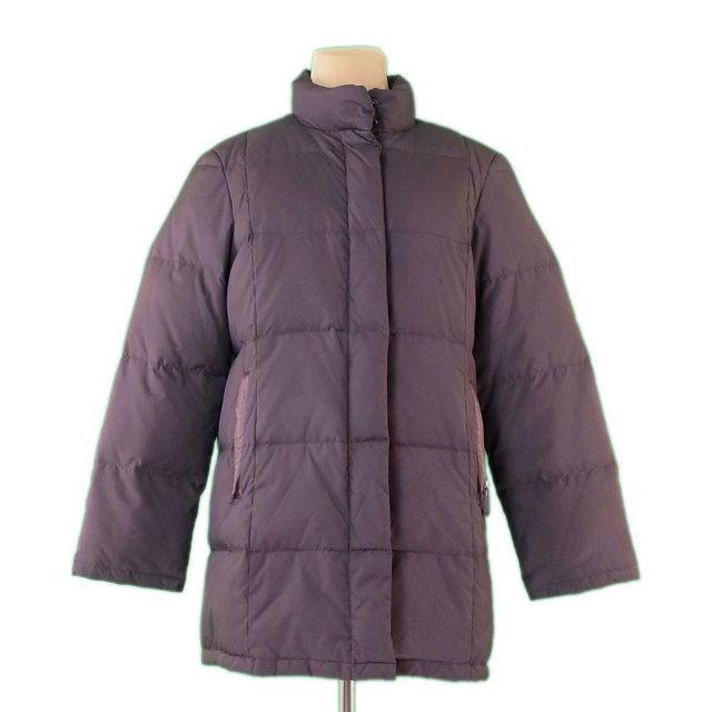 【中古】 バーバリー Burberry コート シングルZIP ブラウン ♯38サイズ ダウン レディース L2224s . .