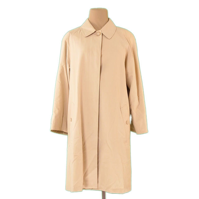【中古】 バーバリー BURBERRY コート シングル ロング レディース ♯7ARサイズ ベージュ 綿 100%(裏地)キュプラ L2227