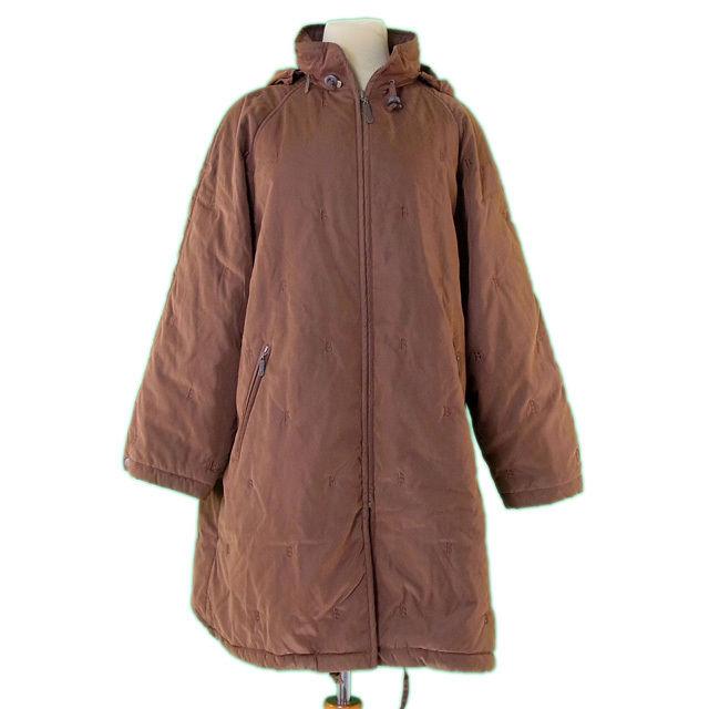 【値引きクーポン】 【中古】 バーバリー BURBERRY コート シングルZIP レディース ♯7ARサイズ 中綿入リ ブラウン ポリエステル 85%ナイロン 15%(中綿・裏地)ポリエステル L2232 .