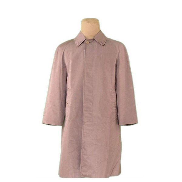 【中古】 バーバリー BURBERRY コート シングル ロング メンズ ♯Sサイズ モカ(ブラウン) ポリエステル 65%綿 35%(裏地)ポリエステル L2375 .