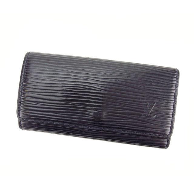 【中古】 ルイヴィトン Louis Vuitton キーケース 4連 レディース ミュルティクレ4 ノワール(黒) エピレザ- N280