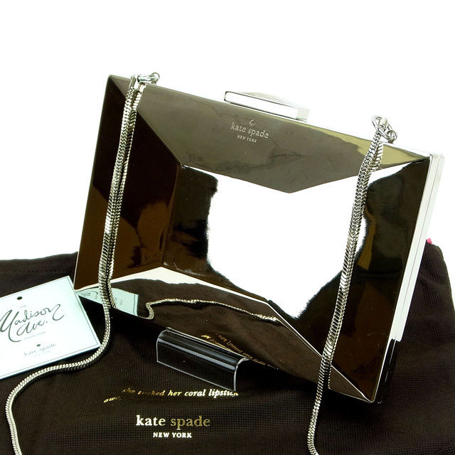【中古】 ケイト・スペード kate spade クラッチバッグ /ショルダーストラップ /2way EMANUELLE ボウ ゴールド メタル (あす楽対応)(人気 激安) O001