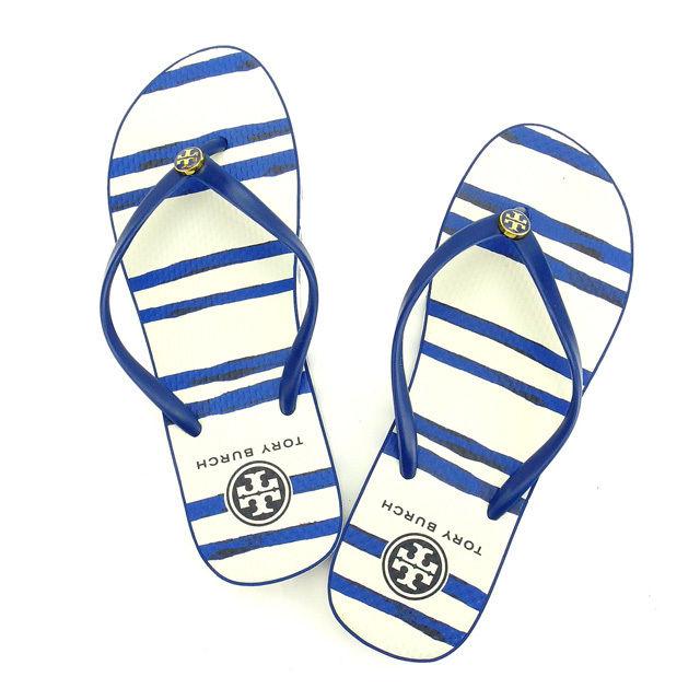 9f2704ad1 BRAND DEPOT TOKYO  TriBirch Beach sandals   7 Tory Burch blue X ...
